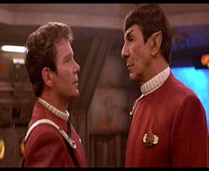 """Kirk: """"Spock, you want to know something? Everybody's Human."""" Spock: """"I find that remark… insulting."""""""