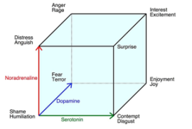 A 3D model of emotion categorization